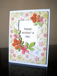 paper flower and mesh mother's day card