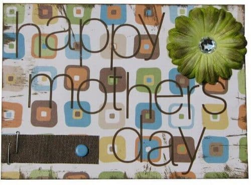 """mother's day card with scrapbook motif """"Mother's day"""" 