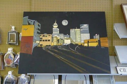 hand painted panel Gastown 36x48 $34.99 bby jmv | https://www.flickr.com/photos/jmv/3526957021/ via Creative Commons