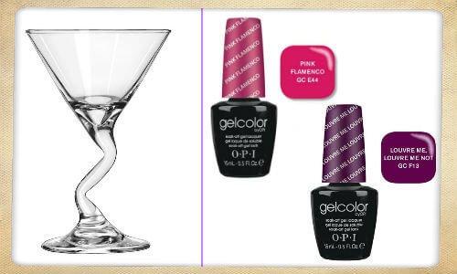 4 oz martini glasses, gel nail polish via become.com merchant