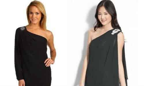 one shoulder dress via become.com merchant