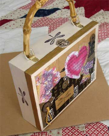 """Asian themed cigar box purse"" 