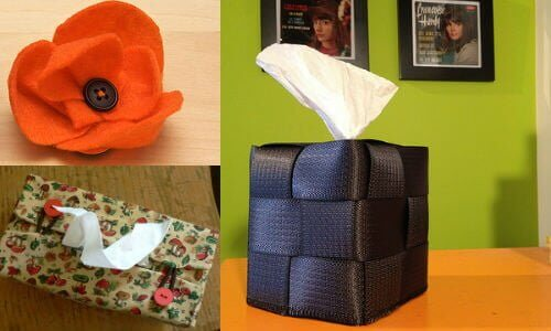 "Top Left: ""Craft flowers"" 