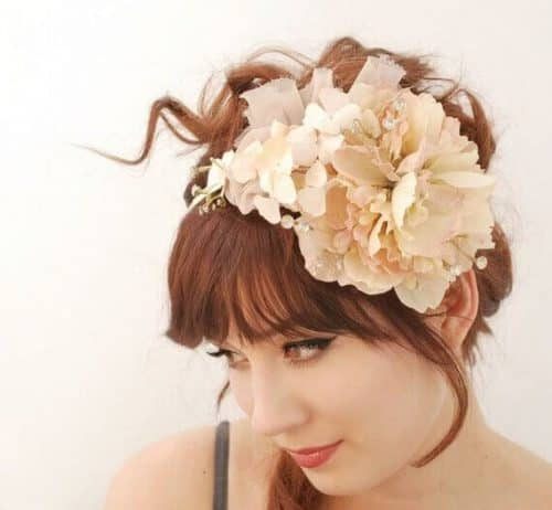 Diaphanous petals - a whimsical floral and crystal headband by Faylyne https://www.flickr.com/photos/bellafaye8/6688394843/ via creative commons