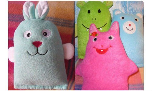 DIY craft felt bunnies