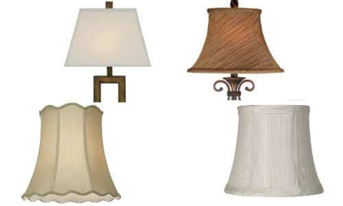 Antique clip-on lamp shades