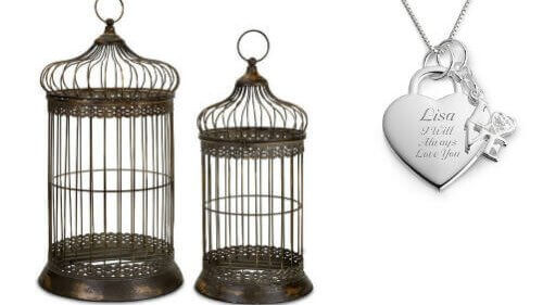 cropped antique bird cage