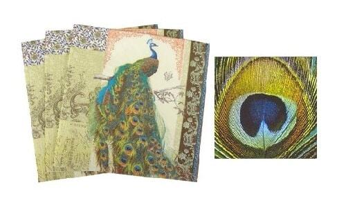 peacock napkins